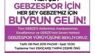İLKER ÇAKIR'DAN GEBZE'LİLERE ÖNEMLİ ÇAĞRI