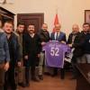 ORDUSPOR'LU TARAFTARLAR VALİ YAVUZ'U ZİYARET ETTİ