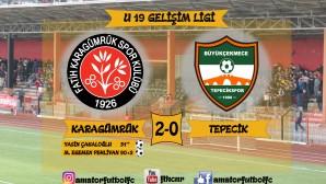 KARAGÜMRÜKSPOR 2-0 TEPECİKSPOR U19 TFF BÖLGESEL GELİŞİM LİGİ MAÇ ÖZETİ